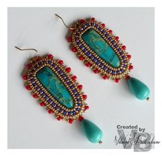 "Серьги (Коллекция ""Сокровища Фараона""). Love this Egyptian colour combination!"