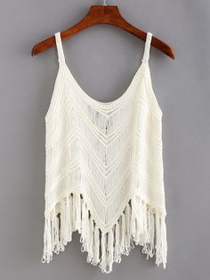 Shop Fringe Hollow Out Crochet Cami Top online. SheIn offers Fringe Hollow Out Crochet Cami Top & more to fit your fashionable needs.