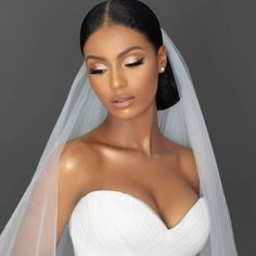 Black Bridal Makeup, Wedding Eye Makeup, Natural Wedding Makeup, Bridal Hair And Makeup, Wedding Hair And Makeup, Bridal Beauty, Hair Makeup, Beautiful Bridal Makeup, Black Brides Hairstyles