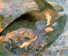 Ang20011 Night With Her Train of Stars-Edward Robert Hughes-sqs. Эдвард Роберт Хьюз