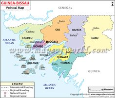 Political Map of Guinea-Bissau