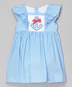 Blue Polka Dot Anchor Dress