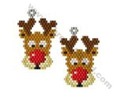 Reindeer Earring Bead Pattern By ThreadABead