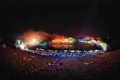 La Cinéscénie - Puy du Fou #PuyduFou #show #spectacle #fireworks #beautiful #amazing #night #Cinescenie