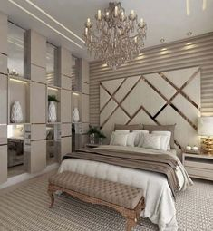87 extraordinary and inspiring home bedroom interior design for decoration 83 Luxury Bedroom Design, Master Bedroom Design, Home Decor Bedroom, Home Interior Design, Luxury Home Decor, Diy Bedroom, Bedroom Ideas For Couples Master Modern, Living Room 3d Design, Wardrobe Designs For Bedroom