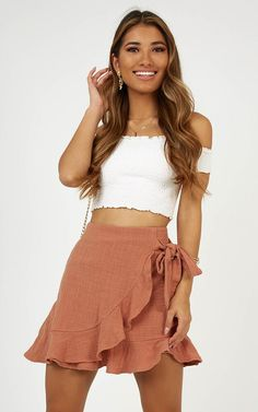 Produced Over and Under Rock In Dusty Rose Linen Look # kitchengarden … - Outfit Cute Summer Outfits, Cute Casual Outfits, Girly Outfits, Spring Outfits, Casual Dresses, Summer Dresses, Summer Skirts, Elegant Dresses, Fall Dresses