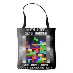 Funny Video Game Level Up Nerdy Motivational Tote Bag