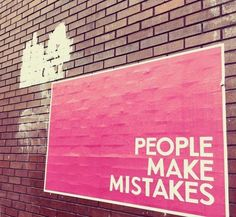 #PeopleMakeMistakes #Glasgow #LandscapePosters #Concept #Conceptual #Conceptualideas #Experiential #Subliminal #Interactive #Flyposting  People Make Mistakes, Making Mistakes, Experiential, Glasgow, Letter Board, Concept, Lettering, How To Make, Decor