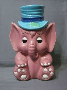 Elephant Cookie Jar made in Japan by National Silver