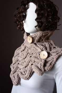 Knitting Pattern Cowl Pattern Cowl Scarf by VitalTemptation,