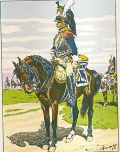 NAP- France: French 9th Cuirassiers, 1809, by Lucien Rousselot.