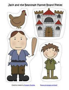 Jack & the Beanstalk Flannel Board Pieces (free; from Kindergarten Nana)