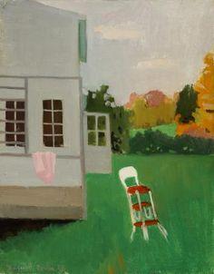 """The High Chair,"" Fairfield Porter, 1962, oil on canvas, 28 1/8 x 22 1/8"", Parrish Art Museum."