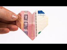Folding money Heart, making money gifts for the wedding: DIY instructions to make a wedding present Special Wedding Gifts, Creative Money Gifts, Watercolor Birthday Cards, Folding Money, Origami Heart, 21st Gifts, Some Ideas, Diy Cards, Diy Wedding