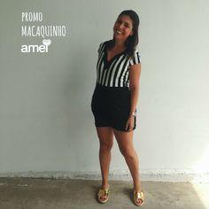 Listrando essa SEXTA❤️ #lojaamei #muitoamor #listras #macaquinhos #lindo #promo #rasteira