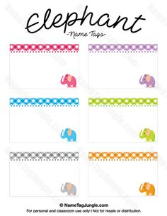 Free Printable Nature Name Tags The Template Can Also Be Used For - Cubby name tag template