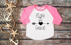 Eight Feels Great Shirt;Kid's Shirt;Eighth Birthday Shirt;Girl's Eighth Birthday;Girl's Baseball Shirt;8th Birthday Shirt Kid's; by bravelittleleaders on Etsy https://www.etsy.com/listing/274045266/eight-feels-great-shirtkids-shirteighth - mens shirt shops, navy mens shirt, coole shirts *ad
