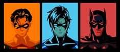 Evolution of Dick Grayson by phil-cho.deviantart.com on @deviantART