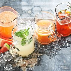 Pitchers make the party! These four pitcher cocktail recipes are big-batch and ready in less than 15 minutes -- perfect for impromptu entertaining! You'll Need: A pitcher cocktail recipe, ice, and glasses.