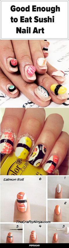 13 Sushi-Nail-Art Looks That Will Make You Want to Bite Your Nails