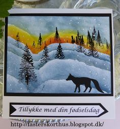 Fasters korthus: WINTER CARD
