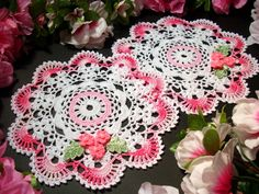 hand crocheted doilies