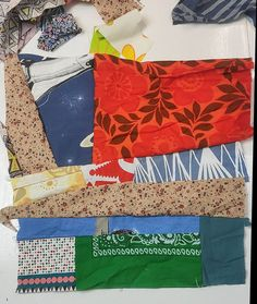 Scrap Fabric Projects, Fabric Scraps, Beautiful Patterns, Fun Crafts, Patches, Crafting, Miniatures, Pillows, Sewing