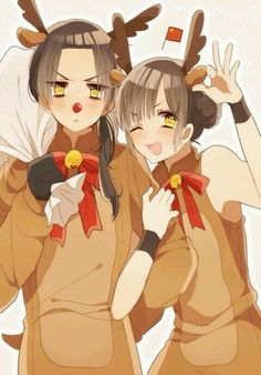 China is sooooo kawaaaaiii !! ^w^ Fem!China is tooo veeeryyy cuuuute !! X333333 They are both kawaii !!! X333333333333