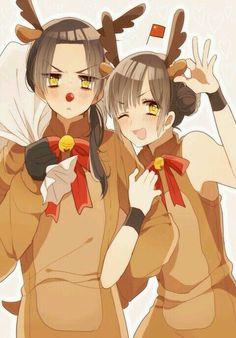 China is sooooo kawaaaaiii !! ^w^ Fem!China is tooo veeeryyy cuuuute !! X333333 They are both kawaii !!! X333333333333