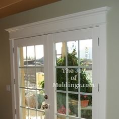 Craftsman style mouldings for windows and doors. I WILL have this in my next house. Window Molding Trim, Window Casing, Moldings And Trim, Craftsman Trim, Craftsman Style, Door Design, House Design, Door Trims, House Doors