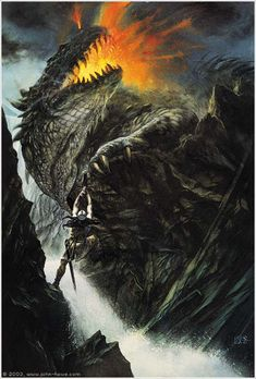 The Death of Glaurung by John Howe