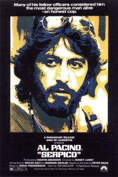 """This biopic stars Al Pacino as Frank Serpico, a New York police officer who exposes police corruption at great personal risk. It's a great story, but Pacino had already entered the """"overacting"""" portion of his career, so it's sometimes tiresome"""
