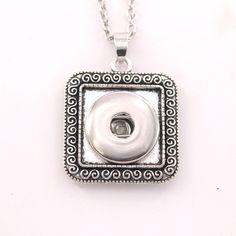 long necklaces and chokers boho bohemian necklaces & pendants NE319  Women's Vintage18mm snaps button necklace Jewelry for men