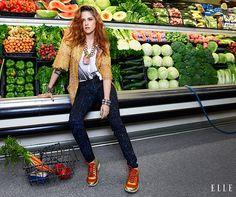 Kristen Stewart September 2014 Cover Shoot - Kristen Stewart ELLE Photos - Elle