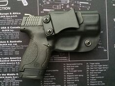 M&P Shield Smith and Wesson 40/9mm Custom Kydex Holster / IWB / Concealed Carry / Right Handed - BLACK / M P Find our speedloader now!  www.raeind.com  or   http://www.amazon.com/shops/raeind