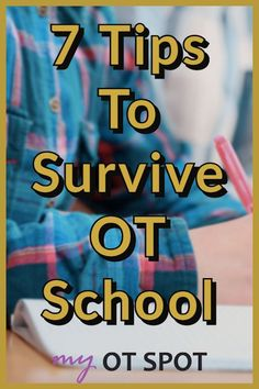 If you're in OT school be sure to check out these 7 tips to survive (and thrive) in your OT program! #otschool #occupationaltherapyschool #occupationaltherapist Occupational Therapy Programs, Occupational Therapist, School Ot, School Hacks, Ot Programs, University Tips, Calendar Organization, Find A Job, Feeling Overwhelmed