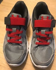 0893a11882f6 Under Armour Boys Red Grey Sneakers! Size 12K! NWOB  fashion  clothing