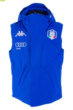 Kappa Men Italian Alpine Team FISI Vest - Blue Princess Silver