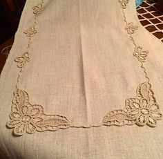 This Pin was discovered by Muh Lace Patterns, Cross Stitch Patterns, Fabric Stiffener, Bruges Lace, Romanian Lace, Point Lace, Needle Lace, Irish Lace, Lace Making