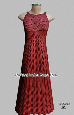 Red Crochet Dress, Crochet Skirts, Crochet Clothes, Knit Dress, Dress Skirt, Freeform Crochet, Knit Crochet, Clothing Items, Clothing Patterns