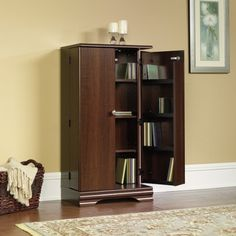 CD DVD Blu Ray Multi Media Storage Cabinet Organizer   Select Cherry Finish  By TDM. $149.98. Features Stores Up To 288 DVDs Or 372 CDs.