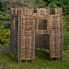 Hazel Castle in the Garden - A great, fun play castle that your children will love made from hazel branches. Eco-friendly and robust it makes a great addition to any family garden. http://www.tinderandtide.co.uk/product.php?cid=47&pid=3270