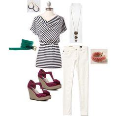 Black & White Stripes-3, created by jennifoundinmycloset.polyvore.com