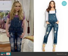 Maya's denim overalls on Girl Meets World.  Outfit Details: https://wornontv.net/57997/ #GirlMeetsWorld