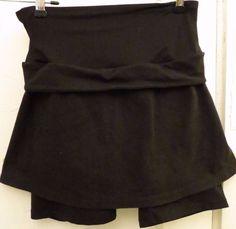 Spanx Skort Skirt Medium Activewear Shapewear Black Shorts Spandex Stretch
