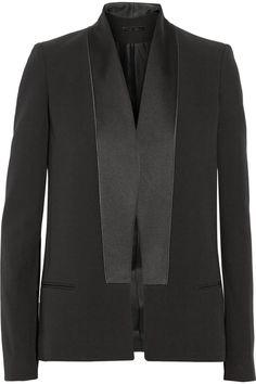 Victoria Beckham|Silk and wool-blend tuxedo jacket|NET-A-PORTER.COM