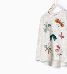 Camiseta apliques mariposa-Niña-ÚLTIMA SEMANA | ZARA España