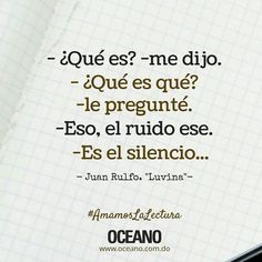 #BuenDía -Escuchando el silencio... #OceanoRD #AmamosLaLectura #Instagood #quote #FrasesQueInspiran #FelízSabado