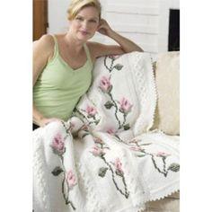 Free Rosebud Throw Crochet Pattern DIY
