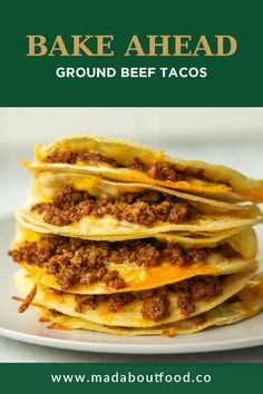 A quick and easy dinner, these baked ground beef tacos are a flavorful family favorite. Serve them with lettuce or cabbage for an easy taco salad meal! These easy bake-ahead taco meat is a great meal prep recipe for the entire family. Plus, you can freeze them too! Healthy Chicken Dinner, Easy Chicken Dinner Recipes, Baked Tacos, Easy Meal Prep Lunches, Ground Beef Tacos, Taco Bake, Healthy Comfort Food, Mexican Food Recipes, Weeknight Dinners